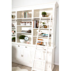 Hamptons white library tall