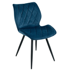 Enterprise blue velvet chair