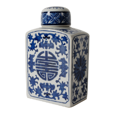 Ren blue and white lidded jar