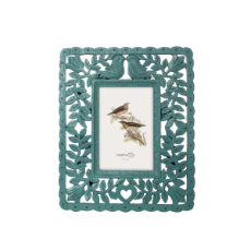 Resin photo frame peacock blue