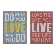 Mdf love message wall art ea