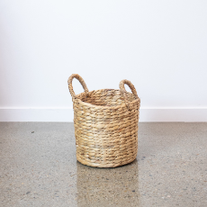 Round basket medium natural
