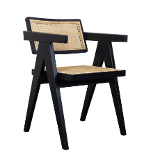 Antoine black dining armchair
