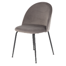 Nebula grey velvet chair