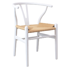 Shore white dining chair