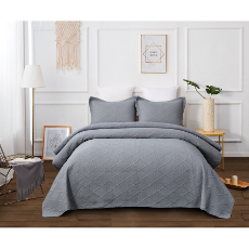 Misty grey throw