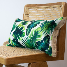 Cushion tropical leaves