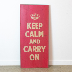 Wall art keep calm carry on