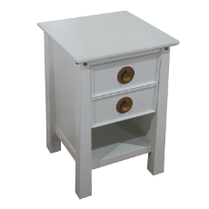 Obsidian bedside 2 drawer soft