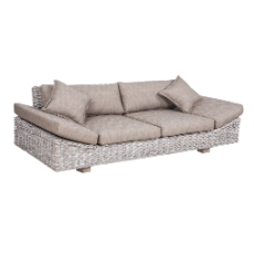Solar daybed white wash