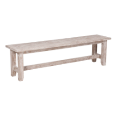 Andros bench white wash
