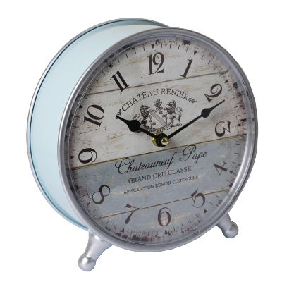 Table clock french blue