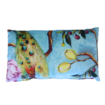 Peacock cushion 30x50