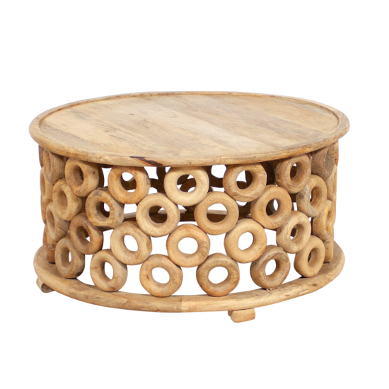 Assam ring coffee table low