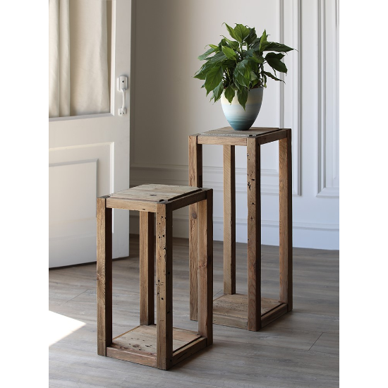 Farmhouse plant stand large