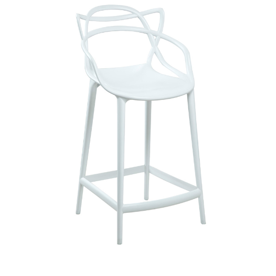 Swami counter stool white