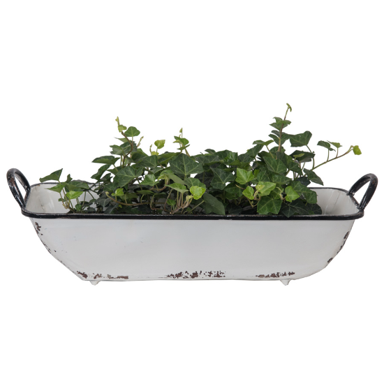 Iron rectangle tray w/ handles
